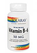 VITAMINA B6 60CAP 50MG SOLARAY