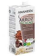 LECHE ARROZ CACAO 1LT ECO AMANDIN