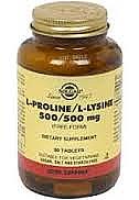 PROLINA+LISINA 500MG 90C SOLGAR