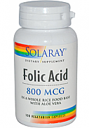 ACIDO FOLICO 100 CAP 800MG SOLARAY