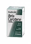 Betacaroteno natural 23.000 UI 30Cáps HealthAid