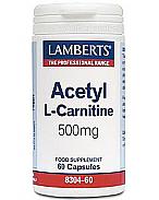 ACETIL L-CARNITINA 500MG LAMBERTS