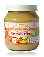 POTITOS MANZANA PLATANO 4M 2X130GR BABYBIO