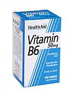 VITAMINA B6 50MG 100T HEALTHAID