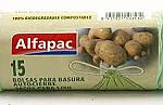 BOLSAS BASURA COMPOST 30LX15 U ALFAPAC