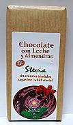 CHOCOLATE LECHE ALMENDRAS Y STEVIA 150G SALUZ 33